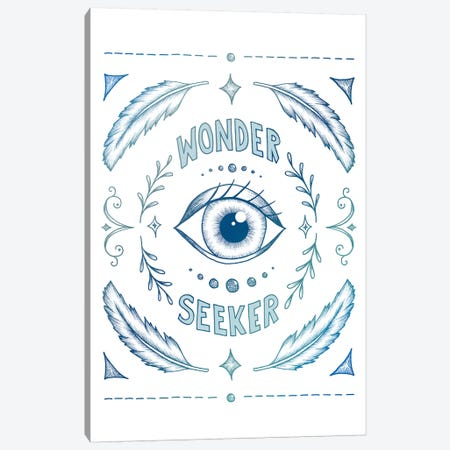 Wonder Seeker - Blue Canvas Print #BRL91} by Barlena Canvas Wall Art