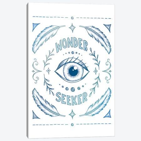 Wonder Seeker - Blue Canvas Print #BRL91} by Barlena Canvas Wall Art