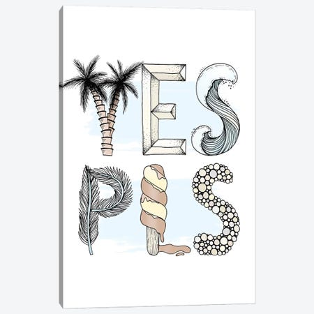 Yes Please Canvas Print #BRL92} by Barlena Canvas Wall Art