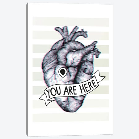 You Are Here Canvas Print #BRL93} by Barlena Canvas Artwork