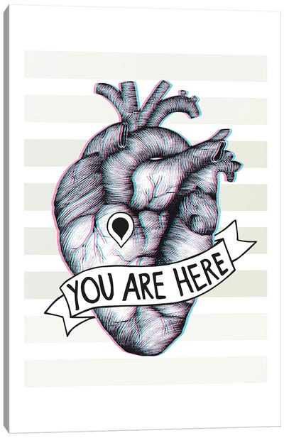 You Are Here Canvas Art Print