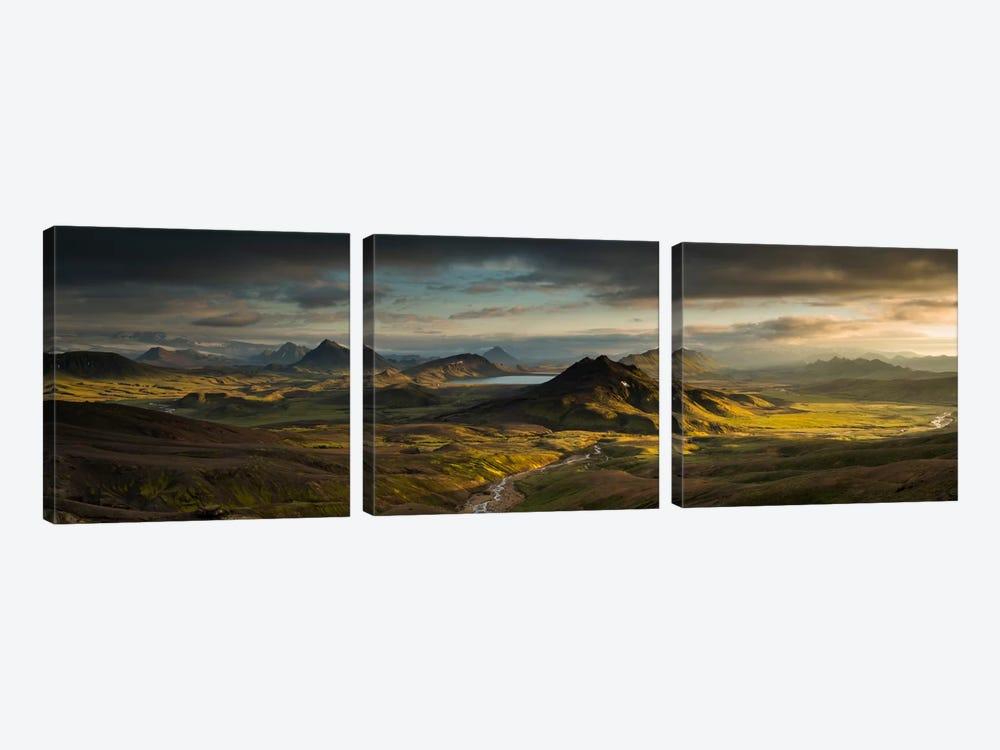 Lake Alftavatn, Laugavegur Trail, Iceland by Rob Brown 3-piece Canvas Artwork