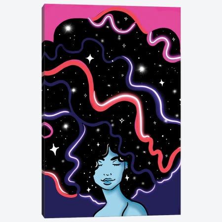 Galaxy Girl Canvas Print #BRP20} by Bri Pippens Art Print