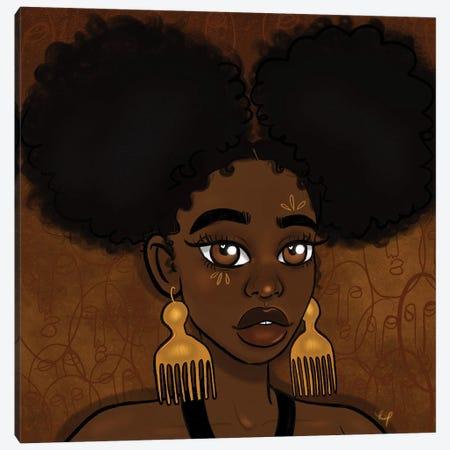 Afro Puffs Canvas Print #BRP21} by Bri Pippens Canvas Print