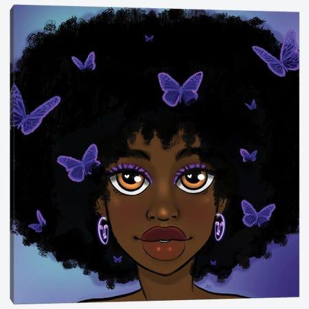Butterfly Girl Purple Canvas Print #BRP22} by Bri Pippens Canvas Art Print