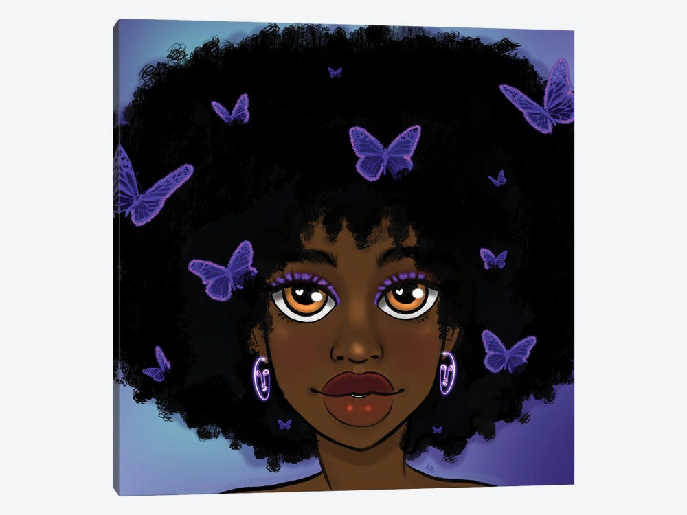 Butterfly Girl Purple by Bri Pippens 1-piece Art Print