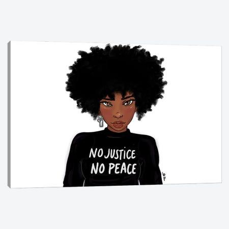 No Justice No Peace Canvas Print #BRP24} by Bri Pippens Canvas Wall Art