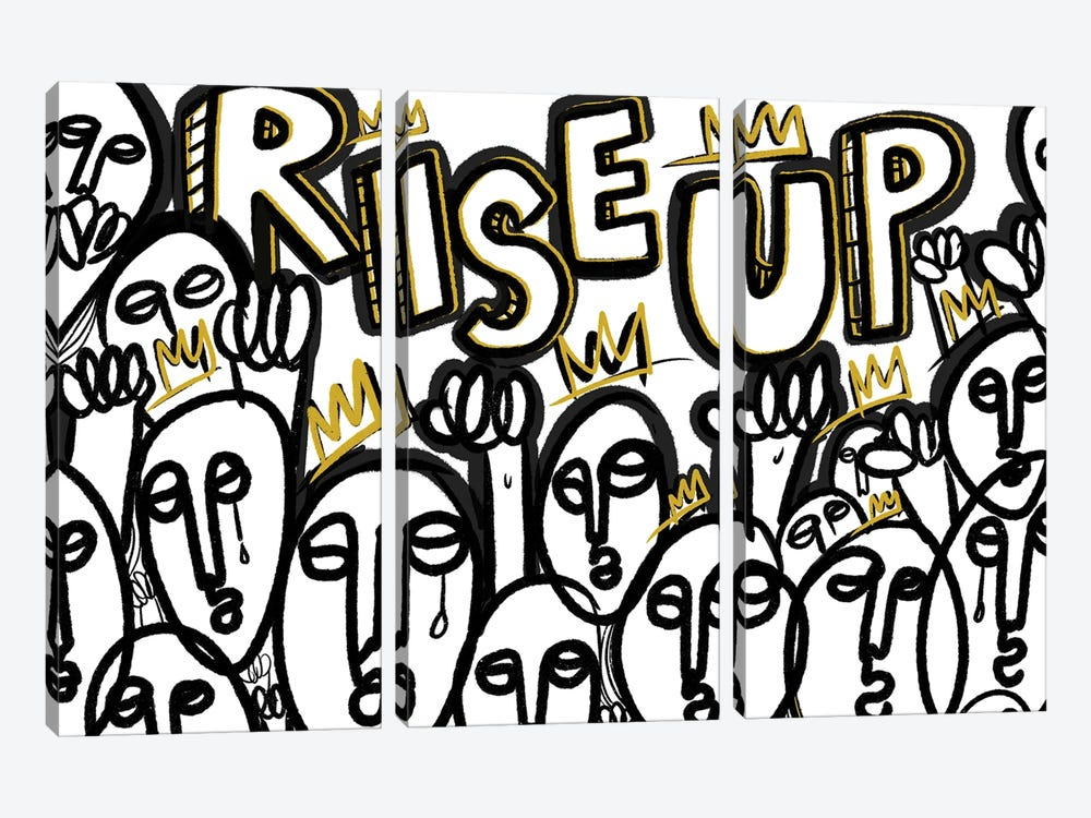 Rise Up II by Bri Pippens 3-piece Canvas Print