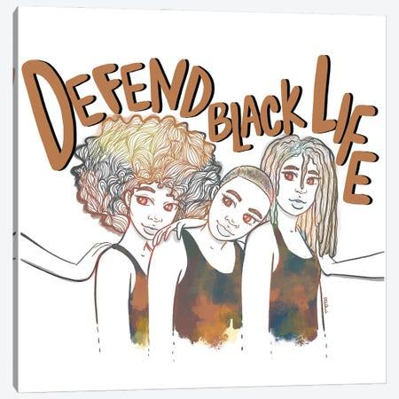 Defend Black Life Canvas Print #BRP36} by Bri Pippens Canvas Art Print