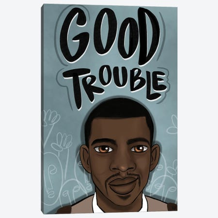 Good Trouble Canvas Print #BRP45} by Bri Pippens Canvas Wall Art