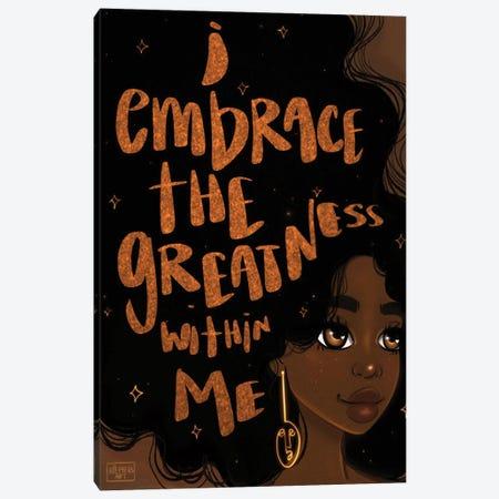 Embrace Greatness Canvas Print #BRP46} by Bri Pippens Canvas Art