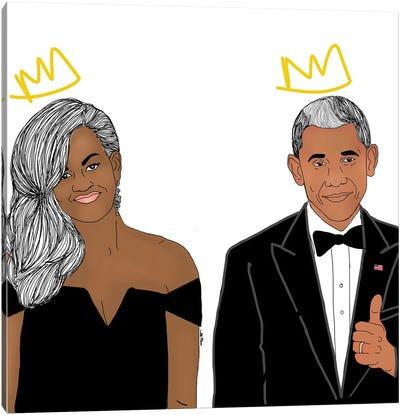 The Obamas Canvas Art Print