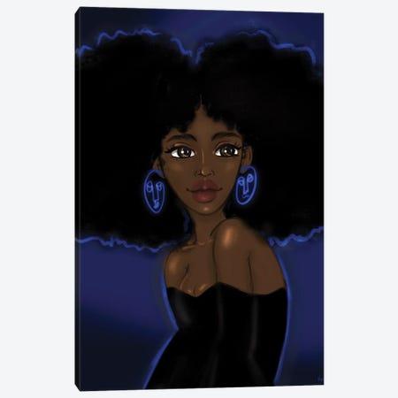 Betta Blues Canvas Print #BRP51} by Bri Pippens Canvas Art