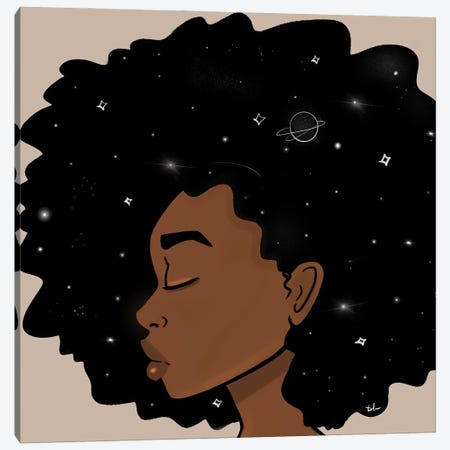 Cosmic Thoughts Canvas Print #BRP52} by Bri Pippens Canvas Artwork