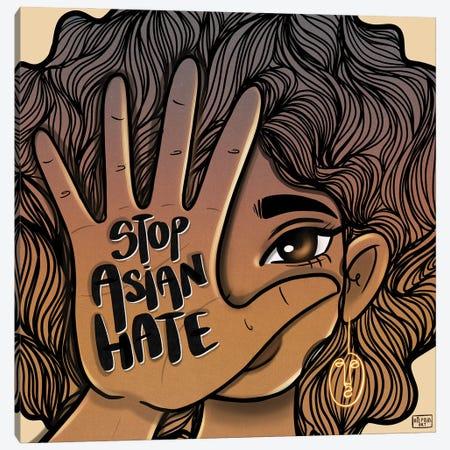 Stop Asian Hate Canvas Print #BRP53} by Bri Pippens Canvas Artwork