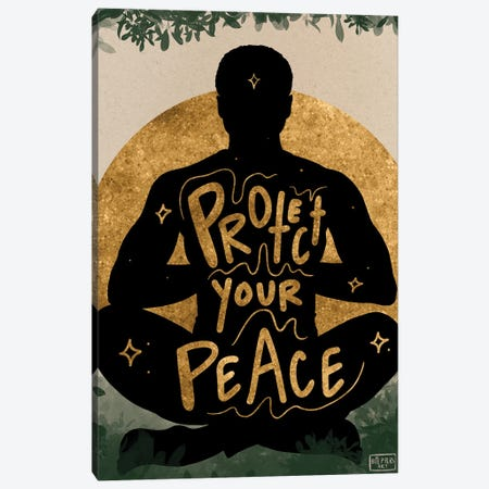 Protect Your Peace Canvas Print #BRP56} by Bri Pippens Canvas Art Print