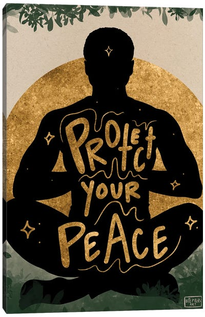 Protect Your Peace Canvas Art Print