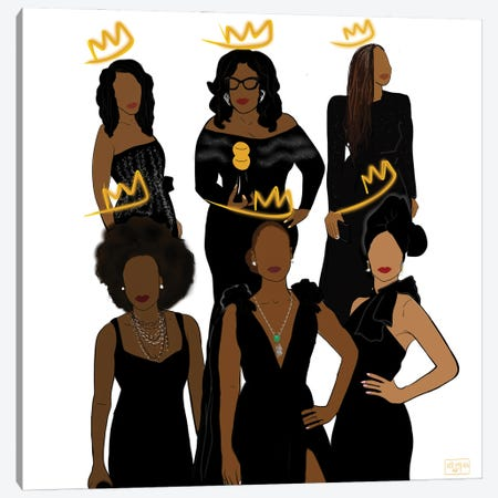 Queens Canvas Print #BRP74} by Bri Pippens Art Print