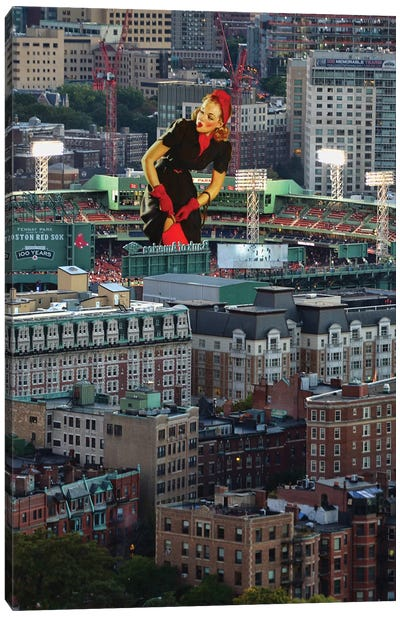 Boston Pinup Canvas Art Print