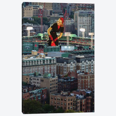 Boston Pinup Canvas Print #BRU10} by Jason Brueck Canvas Art Print