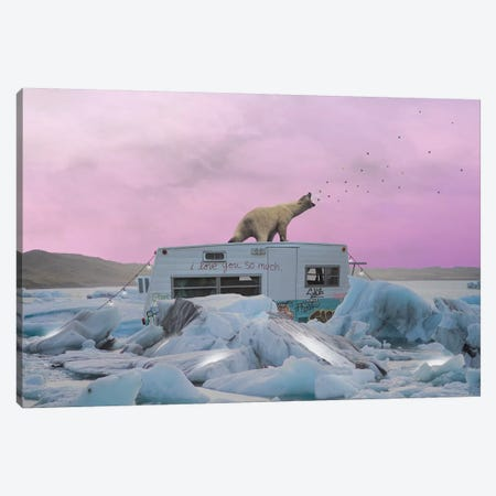 Breaking The Ice Canvas Print #BRU12} by Jason Brueck Canvas Print