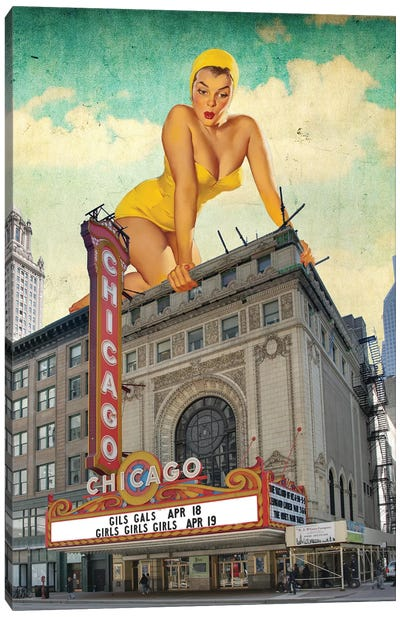Chicago Pinup Canvas Art Print
