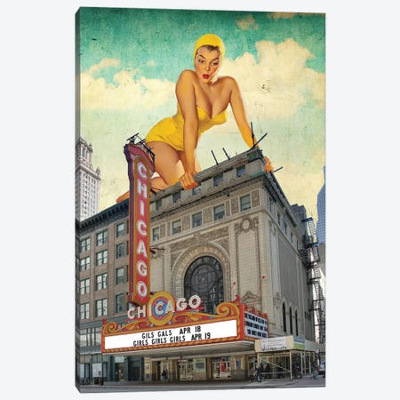 Chicago Pinup Canvas Print #BRU14} by Jason Brueck Canvas Art