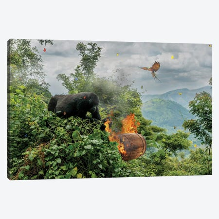 Donkey Kong Canvas Print #BRU19} by Jason Brueck Canvas Print