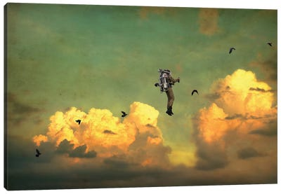 Icarus Canvas Art Print