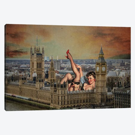 London Pinup Canvas Print #BRU32} by Jason Brueck Canvas Print