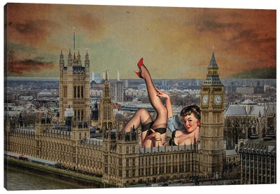 London Pinup Canvas Art Print