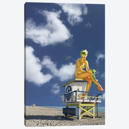 Miami Pinup Canvas Print #BRU36} by Jason Brueck Canvas Wall Art