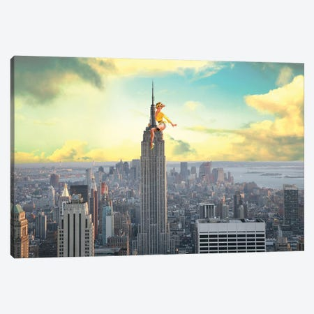 NYC Pinup Canvas Print #BRU38} by Jason Brueck Art Print