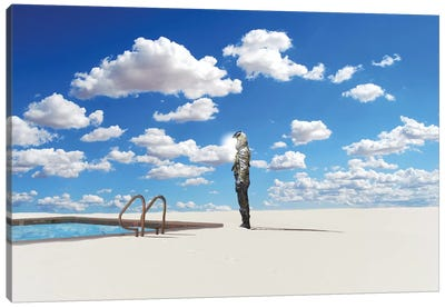 Off The Deep End Canvas Art Print