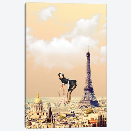 Paris Pinup Canvas Print #BRU42} by Jason Brueck Canvas Artwork