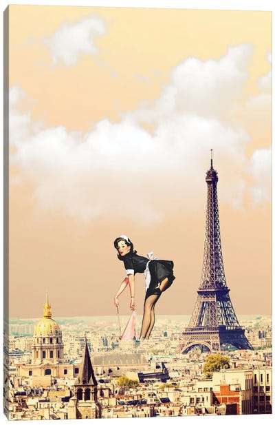 Paris Pinup Canvas Art Print