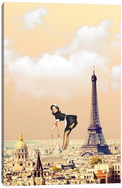 Paris Pinup Canvas Art Print