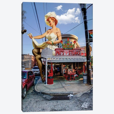 Philly Pinup Canvas Print #BRU44} by Jason Brueck Canvas Art Print