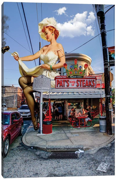Philly Pinup Canvas Art Print