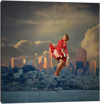 San Francisco Pinup Canvas Art Print