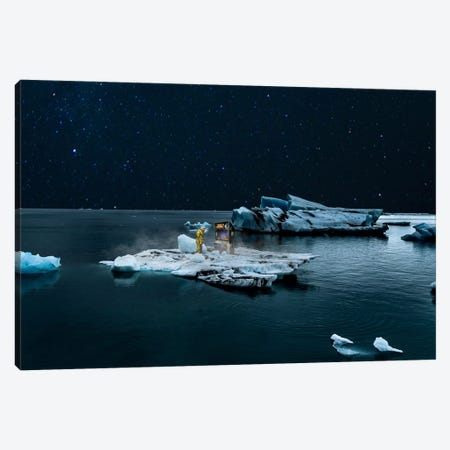 Space Invader Canvas Print #BRU49} by Jason Brueck Canvas Artwork