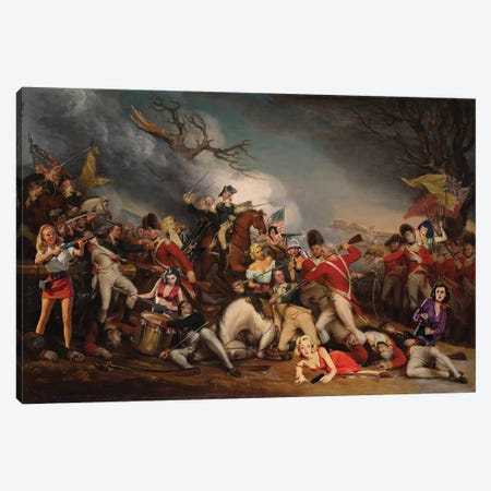 Battle Of Sexes Canvas Print #BRU8} by Jason Brueck Canvas Art