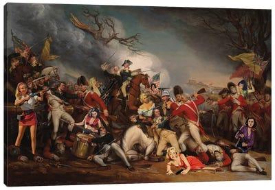 Battle Of Sexes Canvas Art Print