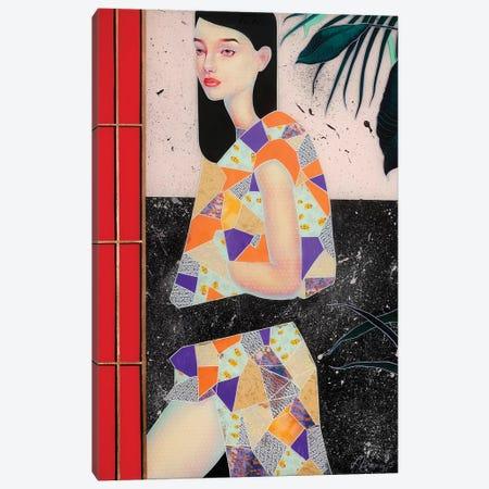 Red door Canvas Print #BRV13} by Lauren Brevner Canvas Wall Art