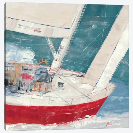 Crimson Plunge Canvas Print #BRW14} by John Burrows Canvas Artwork