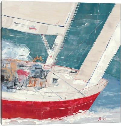 Crimson Plunge Canvas Art Print