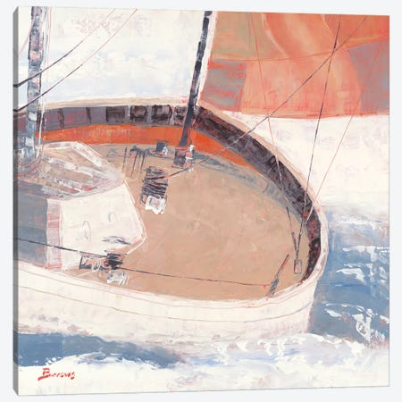 Just Crusin' Canvas Print #BRW20} by John Burrows Canvas Artwork