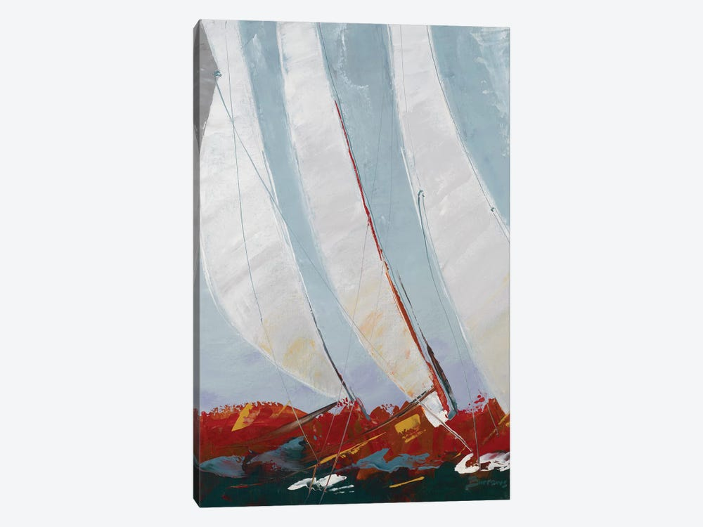 Racing the Wind by John Burrows 1-piece Canvas Art