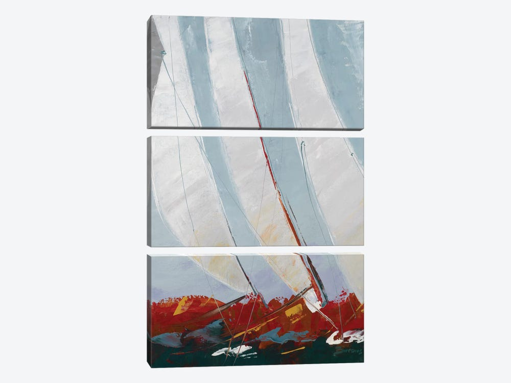 Racing the Wind by John Burrows 3-piece Canvas Artwork