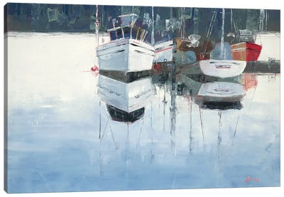 Dock Tight Canvas Art Print